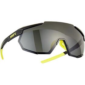 100% Racetrap Glasses gloss black/smoke